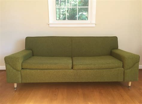 vintage mid century sofa mid century modern two cushion sofa by kroehler epoch