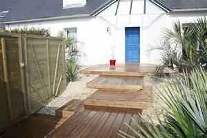 album amenagement de jardin carnac paysagiste With amenagement terrasse en bois