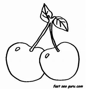 Free coloring pages of cherry