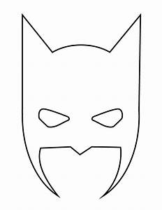 batman face mask template - batman mask halloween stencil h m coloring pages