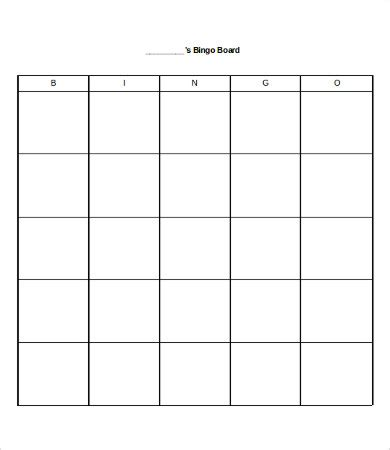 bingo card   word  documents
