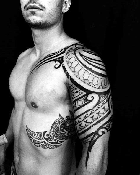 top   tribal rib tattoos  men manly ink design ideas