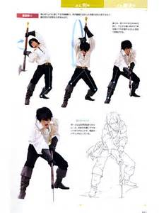 Drawing Sword Pose Reference