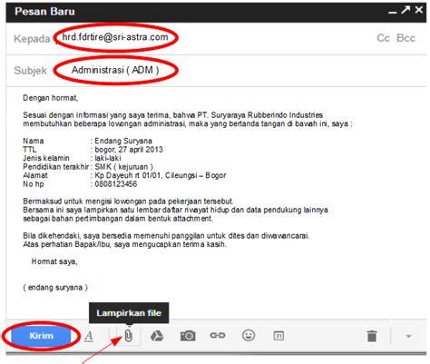 contoh surat lamaran pekerjaan via email kumpulan contoh