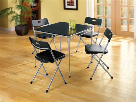 folding card table set 5 chair comfort portability