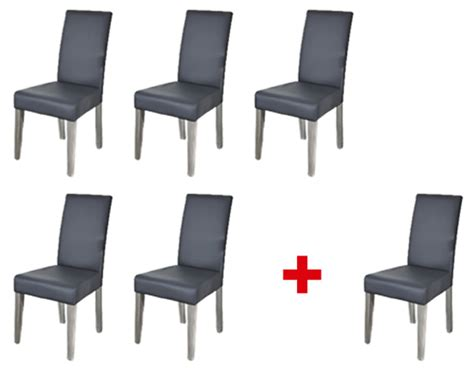 chaises lot de 6 lot de 5 chaises 1 offerte namur gris