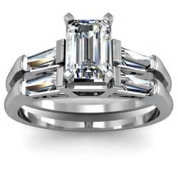 emerald cut engagement rings with baguettes emerald cut baguette engagement ring wedding set engagement rings review