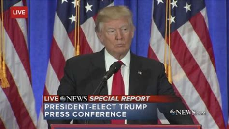trump president conference elect donald holds