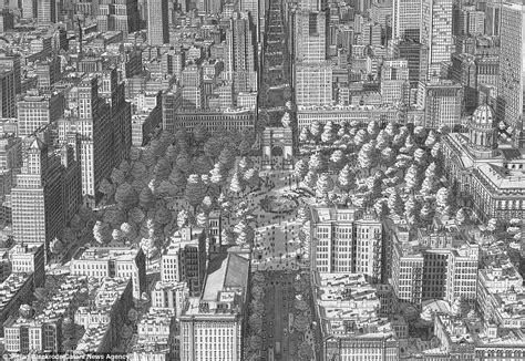 Artist Draws Incredibly Detailed Pictures Of Famous Cities Entirely From Line Of Symmetry Graph Formula Budget Examples Length Plot Worksheets 5th Grade Using Equation Explain Explanation For D3