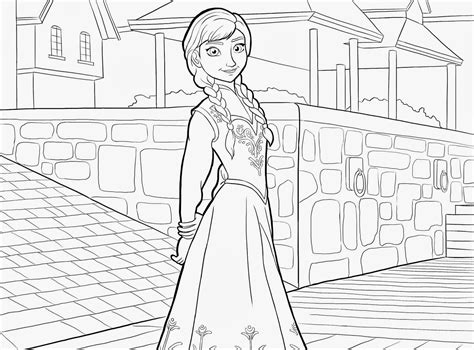 Disney Movie Princesses Frozen Printable Coloring Pages