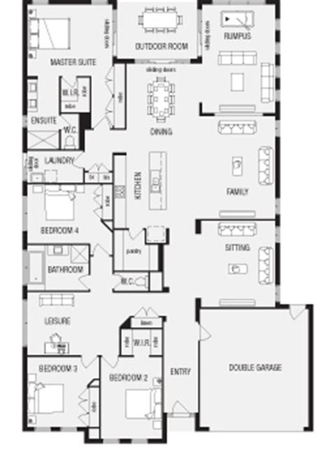 3 Bedroom House Queensland by Grandview New Home Floor Plans Interactive House Plans