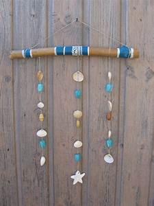 Mobile Bois Flotté : mobile en bois flott avec dentelle coquillages perles ~ Farleysfitness.com Idées de Décoration