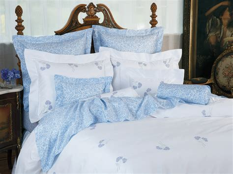 hydrangea blossoms luxury bedding italian bed linens schweitzer linen