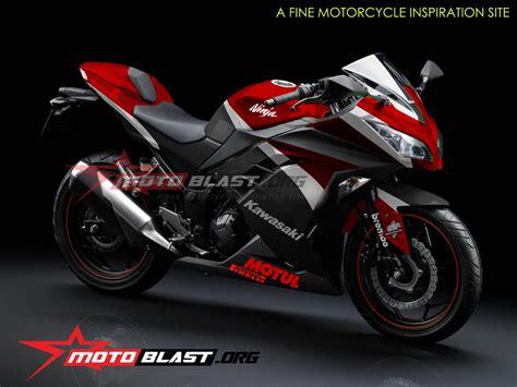 250r Modif by Modif Striping Kawasaki 250 R Fi Black Motoblast