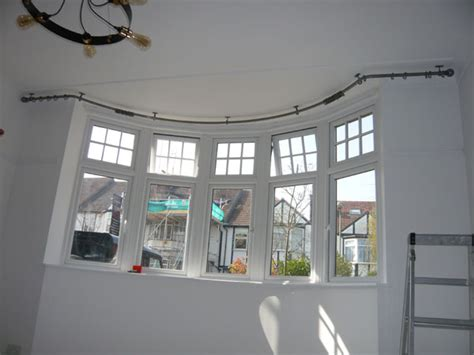 Curved Ceiling Track by Bradleys 25mm Ceiling Fix Bay Window Curtain Pole And