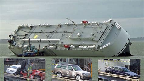 luxury cars  unloaded   salvaged hoegh osaka