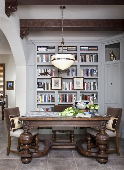 library dining traditional dining room austin