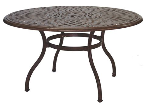 52 round dining table darlee outdoor living series 60 cast aluminum 52 round