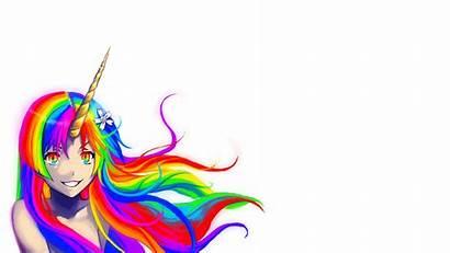 Unicorn Anime Wallpapers Robot Attack Rainbow Pretty