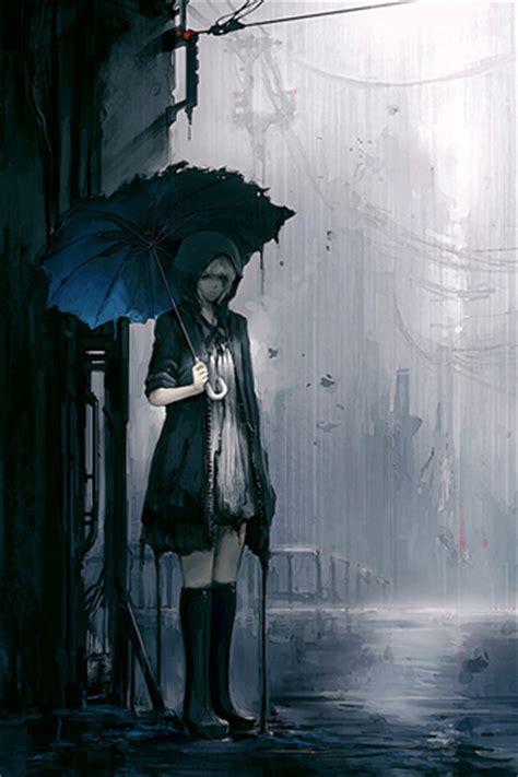 anime girl rain iphone wallpaper emo iphone wallpaper idesign iphone