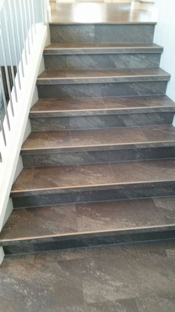 tile flooring on stairs tile stair risers installation stairs design ideas