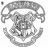 Potter Harry Coloring Crest Pages Hogwarts Ravenclaw Colouring Printable Sheets Crests Adult sketch template