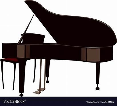 Piano Grand Vectorstock Illustrator Adobe Graphics Teaching