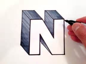 How to Draw 3D Letter N