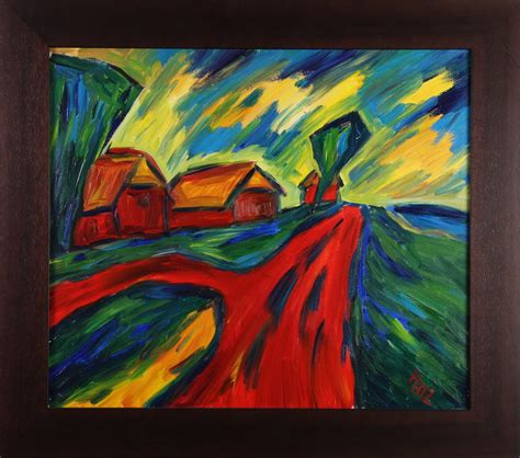 von nord nach sued expressionistische landschaftsbilder