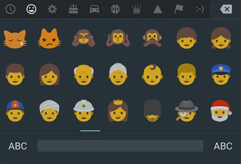 emoji for android that show up here are android n s new emoji