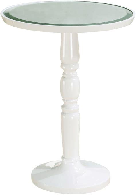 white round accent table gigi white round end table p020040 pulaski