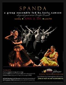 Poster for Bharatanatyam Dance Performance by Leela Samson ...