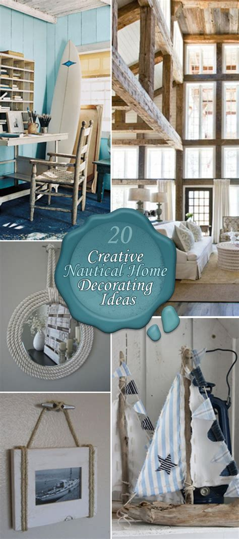 20 Creative Nautical Home Decorating Ideas  Hative. Casa Decor Door Knobs. Dining Room Table Bases For Glass Tops. Vase Decoration Ideas. Red Living Room Chair. Outdoor Fence Decor. Room And Board Slipcover. Boy Bedroom Ideas Small Rooms. Dining Room Placemats