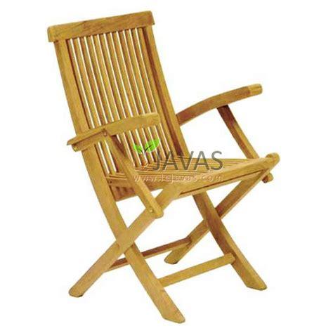 teak outdoor folding armchair le javas teak