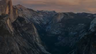 mc wallpaper glacier point  sunset yosemite dark
