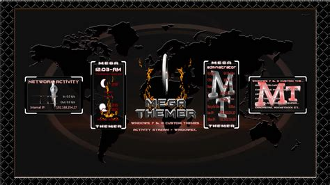 Animated Wallpaper Rainmeter - megathemer animated rainmeter preview only by mtnhj on