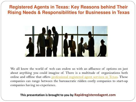 Ppt  Registered Agents In Texas Key Reasons Behind Their. Health Economics Studies College In Peoria Il. Runny Nose Nasal Spray Impact Clinical Trials. Wells Fargo Line Of Credit Rates. Biostatistics Course Online Ace Pest Control. Alternative Energy Definition. New Jersey Drunk Driving Attorney. Insurance Companies Near Me What Is Malibu. Cutting Music Programs In Schools