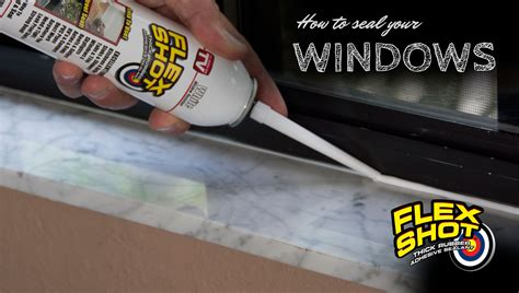 How To Seal Your Windows With Flex Shot