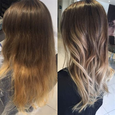 Brown To Hair Before And After Photos by Best 25 Balayage Before And After Ideas On