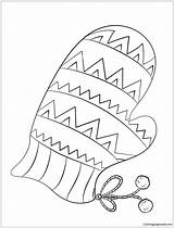 Coloring Mitten Mittens Pages Winter Printable Christmas Sheet Preschool Animals Template Snowman Coloringpagesonly Terrific Letter Drawing Dot sketch template