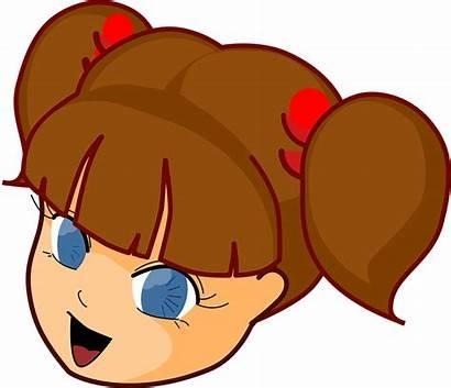 Brown Hair Clip Clipart Cartoon Eyes Head
