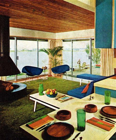 super hip mid century modern living room  love