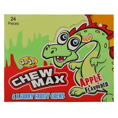 Chewing gum is a soft, cohesive substance designed in order to be chewed without being swallowed. Jojo Apple Flavour Max Chewing Gum 33 gr Pack of 24   Wholesale   تريدلنغ