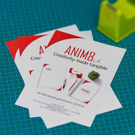double sided  leaflets anim