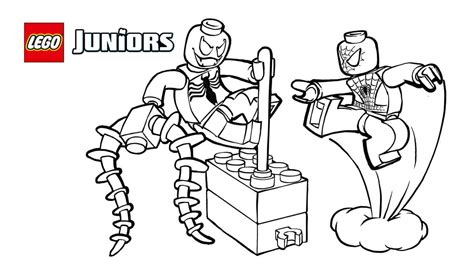 Lego Spiderman Coloring Pages Printable