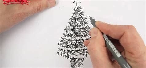 pencil drawings christmas trees how to draw and color a beautiful tree 171 ideas wonderhowto