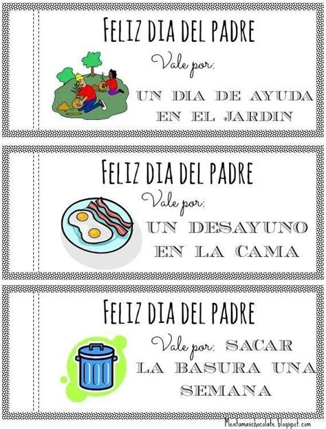 vales para el d 237 a padre d 237 a padre fathers day gifts fathers day y diy room d 233 cor