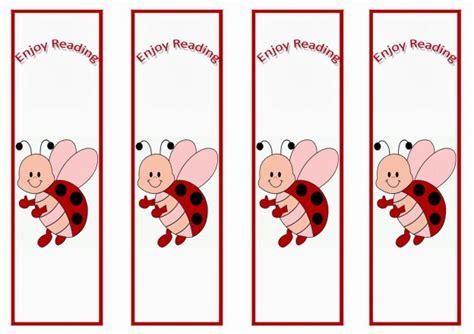 ladybug bookmarks birthday printable