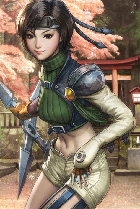 Yuffie Colorised By Artgerm On Deviantart