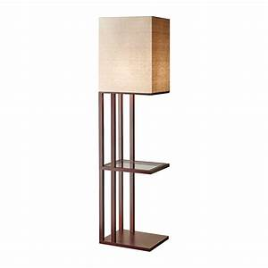 Floor lamp with shelf lighting and ceiling fans for Etagere torchiere floor lamp with 3 glass shelves
